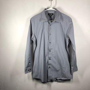 Apt 9 gray slim fit dress shirt size 16.5